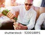 stylish groomsman or best man... | Shutterstock . vector #520018891