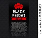 abstract vector black friday...   Shutterstock .eps vector #520018927