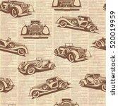 seamless retro car old... | Shutterstock .eps vector #520019959