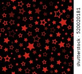 red stars seamless pattern....   Shutterstock .eps vector #520020181