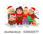 Christmas Caroling. Children...
