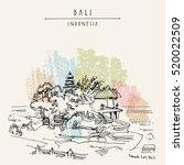 tanah lot  balinese hindu... | Shutterstock .eps vector #520022509