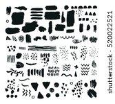 set of brush strokes  abstract... | Shutterstock . vector #520022521