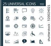 set of 25 universal editable... | Shutterstock .eps vector #520024021