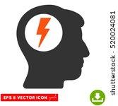 brain electric shock eps vector ...   Shutterstock .eps vector #520024081