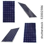 blue solar panels in different... | Shutterstock . vector #52002586