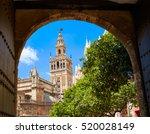 seville cathedral giralda tower ...   Shutterstock . vector #520028149