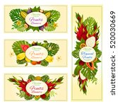 tropical fruit banners with... | Shutterstock .eps vector #520030669