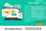 web design conceptual banner | Shutterstock .eps vector #520032304