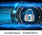 safety concept  closed padlock... | Shutterstock .eps vector #520033021