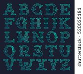 mono line slab serif retro...   Shutterstock .eps vector #520035181