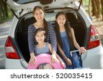 happy asian daughters and... | Shutterstock . vector #520035415