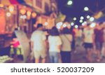 vintage tone blur image of... | Shutterstock . vector #520037209