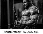 brutal strong bodybuilder... | Shutterstock . vector #520037551
