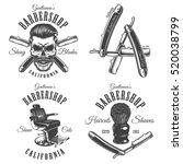 set of vintage barbershop... | Shutterstock . vector #520038799