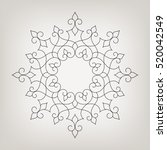 round linear vector ornament in ... | Shutterstock .eps vector #520042549