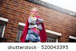 superhero baby girl brave... | Shutterstock . vector #520043395