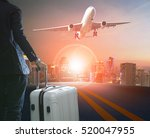 business man and traveling... | Shutterstock . vector #520047955