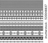 ethnic seamless pattern with... | Shutterstock .eps vector #520048837