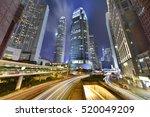 traffic in hong kong at night... | Shutterstock . vector #520049209