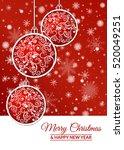 illustration. gold christmas... | Shutterstock . vector #520049251