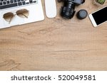 wood photographer desk table... | Shutterstock . vector #520049581