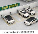 car sharing concept. 3d... | Shutterstock . vector #520052221