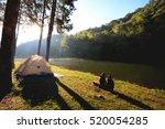 sun rise at pang ung  pine... | Shutterstock . vector #520054285