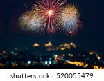 beautiful firework display for... | Shutterstock . vector #520055479