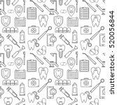 seamless vector pattern in a... | Shutterstock .eps vector #520056844