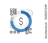 modern vector icon of financial ... | Shutterstock .eps vector #520057249