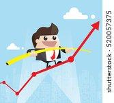 balance. manager balancing on... | Shutterstock .eps vector #520057375