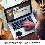 Small photo of Anti virus Alert Firewall Hacker Protection Safety Concept