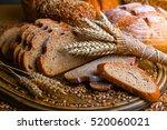 rye sliced bread on the table | Shutterstock . vector #520060021