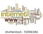 internet   word cloud | Shutterstock .eps vector #52006186