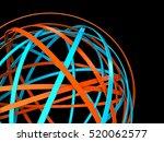 abstract 3d render of sphere ... | Shutterstock . vector #520062577