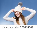 Attractive Woman In Winter Cap...