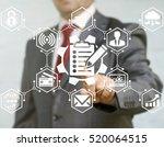business man presses gear... | Shutterstock . vector #520064515