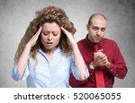 desperate woman. a man is... | Shutterstock . vector #520065055