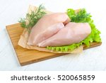 raw chicken breast with dill... | Shutterstock . vector #520065859