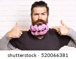 handsome bearded man with... | Shutterstock . vector #520066381