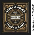 vintage design for labels.... | Shutterstock .eps vector #520069099