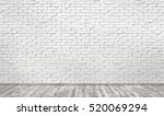 empty room with white brick... | Shutterstock . vector #520069294