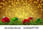 happy new year poster. banner... | Shutterstock .eps vector #520069759