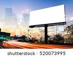 double exposure of blank... | Shutterstock . vector #520073995