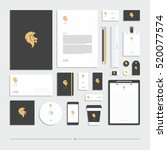 corporate identity  stationery... | Shutterstock .eps vector #520077574