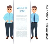 man before and after weight... | Shutterstock .eps vector #520079449