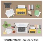 Writer Desk Mockup Set. Vintage ...