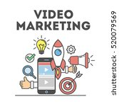 video marketing concept.... | Shutterstock .eps vector #520079569