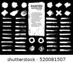 painted grunge stripes set.... | Shutterstock .eps vector #520081507